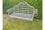 Metal Garden Rustic Bench With Scrolled Armrests