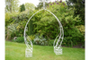 French Shabby White Wash Metal Garden Arch Planter
