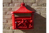 Aluminium Vintage Style Classic Red Wall Post Box