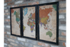 Set Of 3 World Map Pictures to find any spot