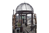 Black Solid Iron Beautiful Victorian Style Large Gazebo