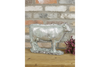 Metallic Grey Cut Out Designed Cow Decoration