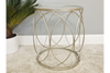 Transparent Glass Tray Champagne Silver Metal Side Table
