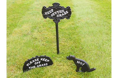 Dog Fouling Cast Iron Sign No