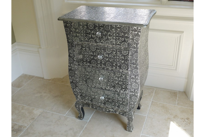 Retro-Style Embossed Chest Of Drawers