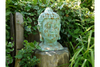 Antique Blue Finished Large Garden Ornament Buddha Head