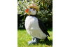Resin Made Garden Outdoor Puffin Wearing Rubber Boots & Hat