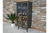 Stunning Design Metal Wine Cabinet With Modern Pattern