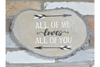 All of Me Loves All Of You Wooden Wall Decoration
