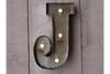 Low Voltage Vintage Distressed Wall Fairground Letter (J)