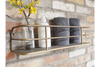 Industrial Style Shelf With Contemporary Gold Finish