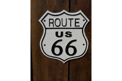 Cast Iron Sign Route US 66