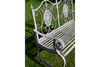 Antique Grey Finish Two-Seat Bench