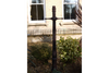 Small Copper Ladder Matt Black Bar Lamp Post & Base