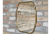 Stunning Gold Distressed Simple Metal Mirror