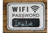 Quirky & Fab Metal Plaque WIFI PASSWORD Sign