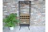 Tall Standing Industrial Metalwork Wine Cabinet