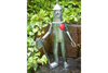 Red Heart Freestanding Silver Medium Garden Decor Tin Man