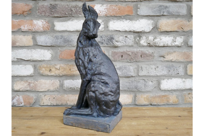 Metal Effect Bronze Finished Hare