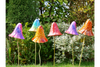 Bright Colorful Giant Metal Mushrooms Toadstools 6 Set of Decorative Ornament