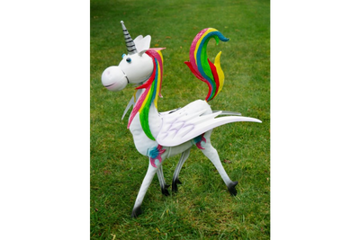 Rainbow Unicorn Garden Ornament