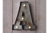 Wall Mounted Rustic Distressed Metal Fairground Letter (A)