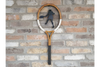 Vintage Stylist Wall Mounted Stylist Tennis Racket