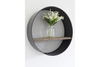 Metal Round Frame Wall Mounted Shelf