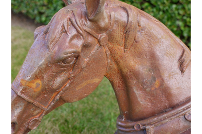 Horse Head & Pillar Top Garden Ornament