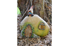 Solar Powered Vintage Resin Garden Fairy Gnome House Statue Ornament Decor