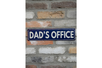 Sign (Dads Office) with clear marking