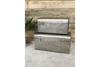 Silver Metal Small-Large Set Of 2 Trunks