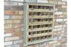 Wooden Framed Wall Unit 6 Glazed Front Drawers