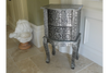 Indian Style Chaandhikar Design Embossed Bedside