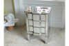 3 Drawer Mirrored Bedside Table bedside cabinet Mirror finish