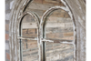 Antique Arched Wooden Wall Freestanding Rustic Mirror