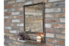 Wall Mounted Gorgeous Industrial Mirror Shelf