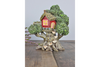 Enchanted Magical Carved Man Resin Fairy Treehouse