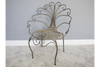 Burnished Gold Outdoor Metal Peacock Chair