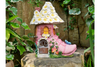 Fairy House In A Shoe Heel Garden Outdoor Sculpture Decorative Ornament