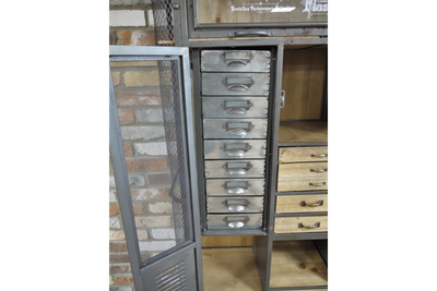 Fabulous Wooden Large Industrial Cabinet