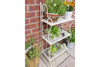 3 Tier Metal Folding Shelving Furniture Unit Antique Garden Storage Rack Stand
