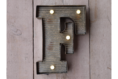 Single Rustic wall Mounted Vintage Fairground Letter (F)
