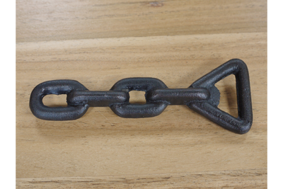Heavy Cast iron Industrial Style Chain Bottle Opener