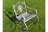 Metal Vintage Style Antique Light Grey Rocking Chair