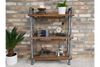 Industrial Style 3 Tier Wood and Steel Pipe Shelf