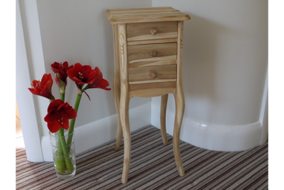 Vintage Quirky Square Cabinet Drawers Bedside Table