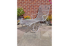 Antique Style Modern Grey Metal Garden Sun Lounger