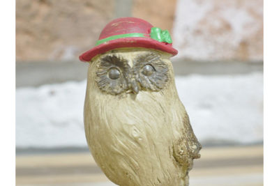 Authentic Resin Made Quirky Mrs Owl