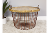 Basket Style Coffee Table With Wooden Lid